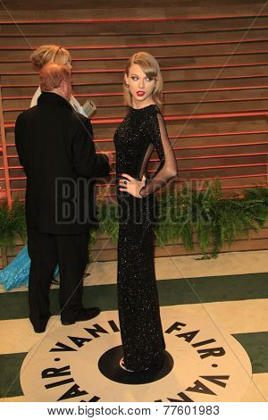 LOS ANGELES - MAR 2:  Taylor Swift at the 2014 Vanity Fair Oscar Party at the Sunset Boulevard on March 2, 2014 in West Hollywood, CA