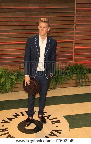LOS ANGELES - MAR 2:  Cody Simpson at the 2014 Vanity Fair Oscar Party at the Sunset Boulevard on March 2, 2014 in West Hollywood, CA