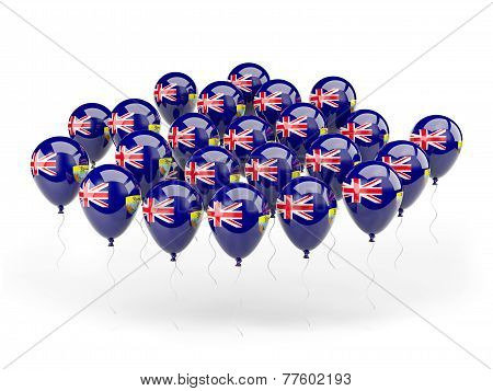 Balloons With Flag Of Saint Helena