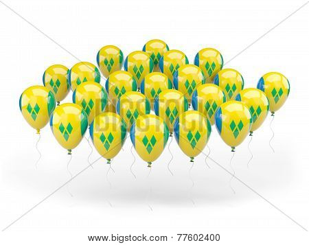 Balloons With Flag Of Saint Vincent And The Grenadines