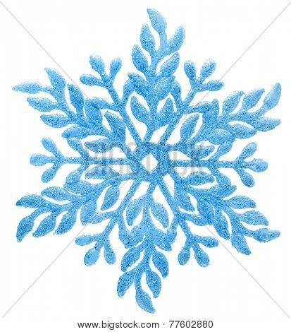 Christmas snowflake isolated on white background