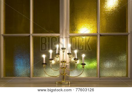 Candlestick On Window Ledge