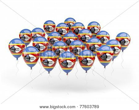 Balloons With Flag Of Swaziland
