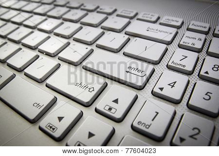 Computer Keyboard With Enter Button