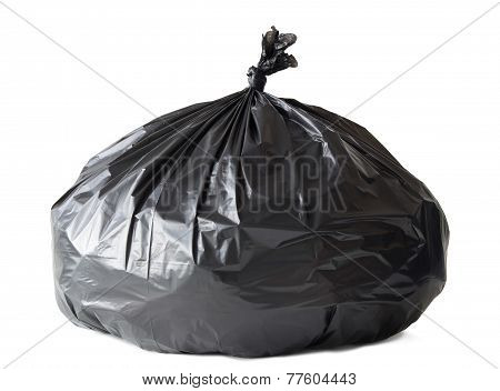 Garbage Bag Isolated On White With Clipping Path