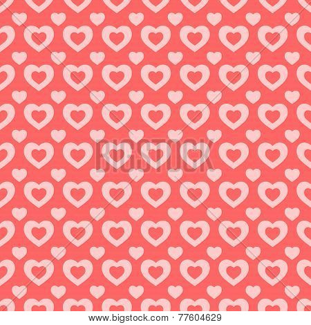 Pink and red hearts Valentine background