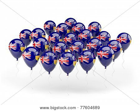 Balloons With Flag Of Turks And Caicos Islands