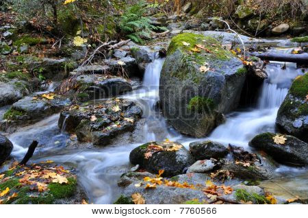 Mountain Waterfall in Autumn