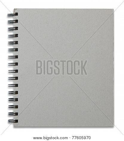 Recycled Notebook Cover Isolated On White Background