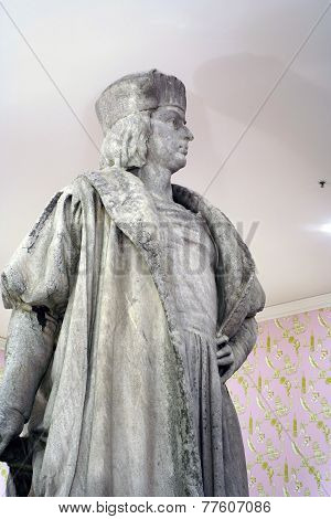 Close Up Of Statue Of Christopher Columbus In Nyc
