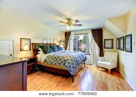 Master Bedroom Interior With Beautiful Queen Size Bed