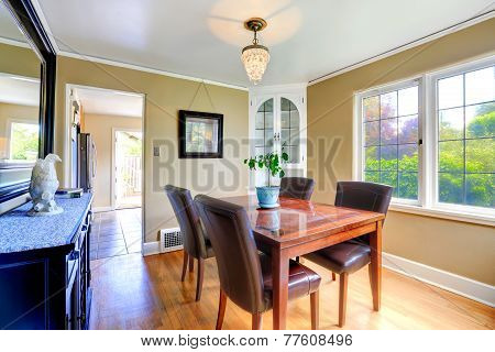 Elegant Dining Table Set  In Bright Room