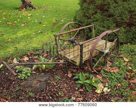 Garden Decor In Old Wagon