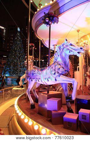 Christams merry-go-round, Hong Kong