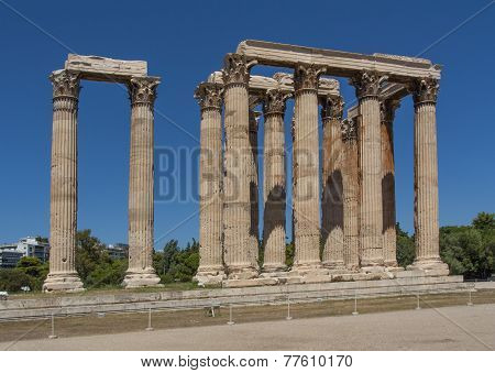 Temple Of Zeus At Athens Near Acropolis