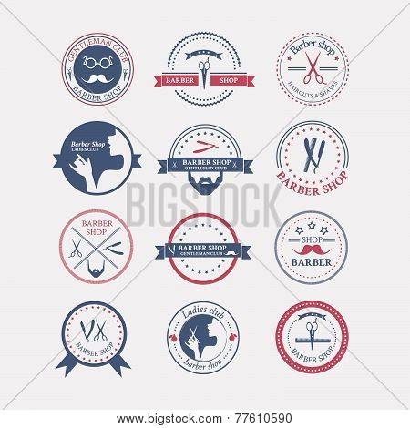 Perfect Set Of Barber And Haircut Logos