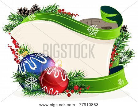 Christmas Wreath With Bright Baubles