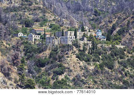 Konstamonitou monastery. Holy Mount Athos.