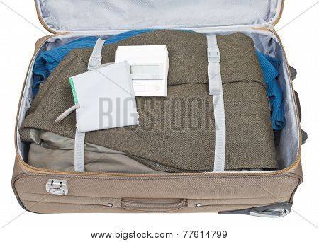 Sphygmometer And Jacket Packed In Suitcase