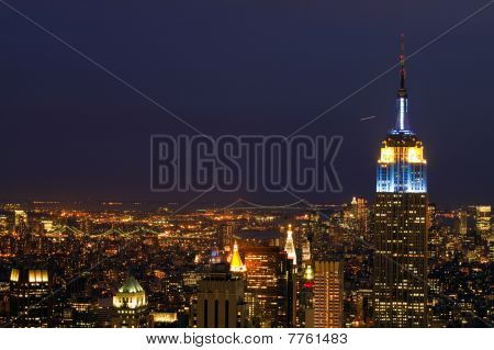 New York City at nightime