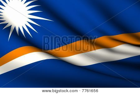 Flying Flag Of Marshall Islands | All Countries Collection |