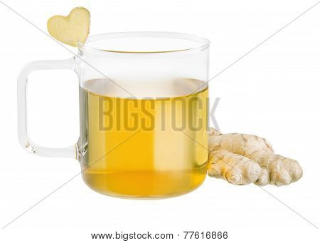 isolated ginger tea