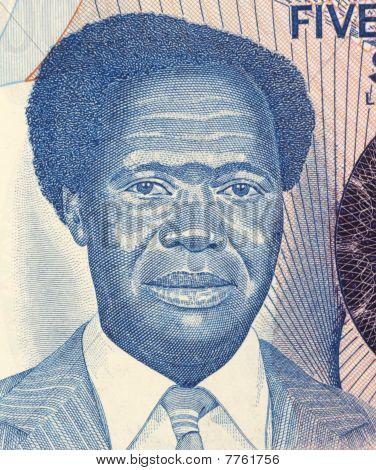 UGANDA - CIRCA 1983: Milton Obote
