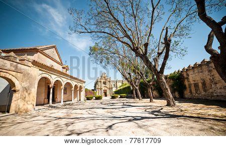 Jerez, Spain - May 02, 2014: Monastery Charterhouse of Jerez de la Frontera, Spain