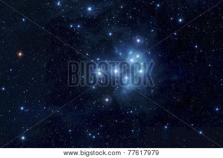 Pleiades in deep space
