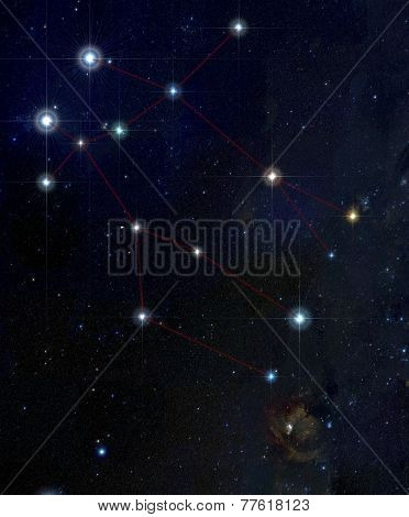 Gemini constellation in deep space