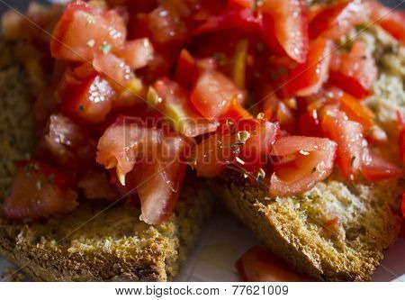 Typical Italian Bruschetta