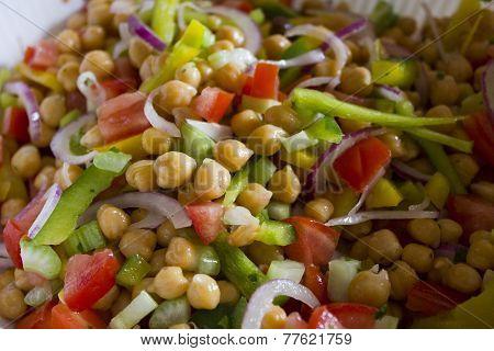 Garbanzo Bean Salad, close up