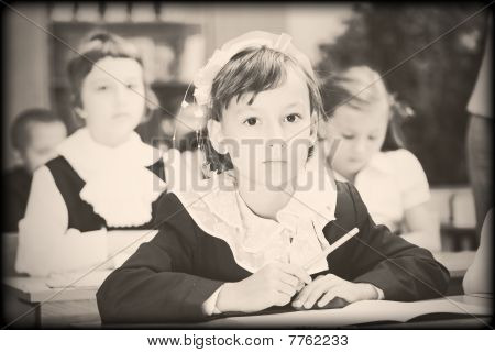 Old Style Photo From Elementary Age