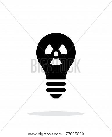 Atomic light icon on white background.