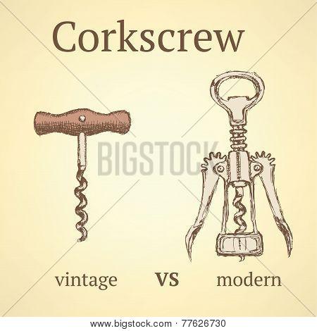 Vintage Corkscrew Versus Modern