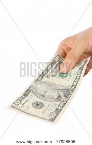 pay a U.S. 10 doller