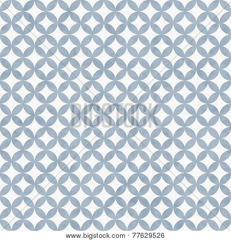 Blue And White Interconnected Circles Tiles Pattern Repeat Background