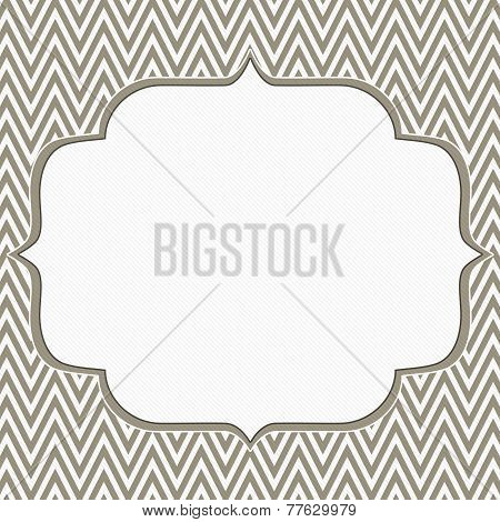 Brown And White Chevron Zigzag Frame Background