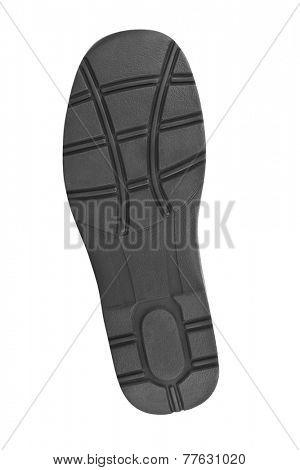 Bottom of shoes isolated on white background