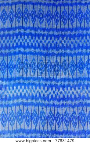 The Pattern On The Woven Fabric