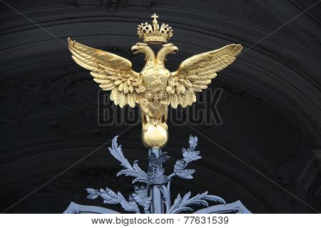 Double-headed eagle in Saint Petersburg, Russia