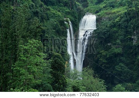 Beautiful Waterfall In Sri Lanka