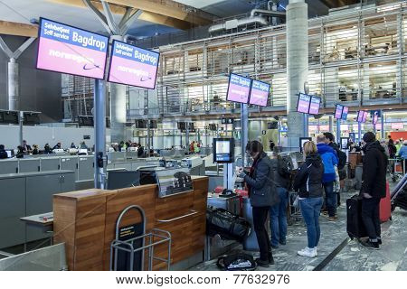 Interior Of Oslo Gardermoen International Airport