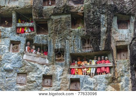 Traditional Burial Site In Tana Toraja