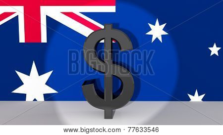 Australian Dollar Symbol In Spotlight