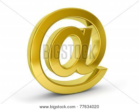Gold Email Symbol