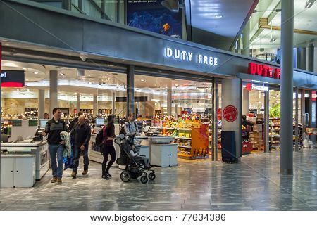 Duty Free Shop At Oslo Gardermoen International Airport