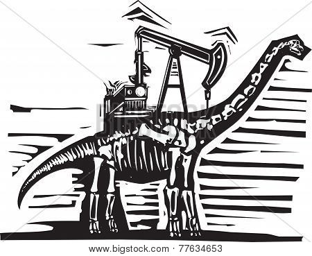 Brontosaurus Oil Well Pump