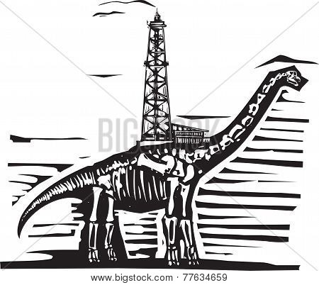 Brontosaurus Oil Well Drill