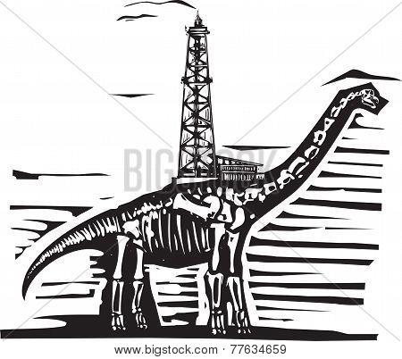 Brontosaurus Oil Well Drill